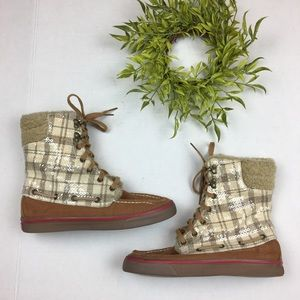 Sperry | Plaid Sequin Boots